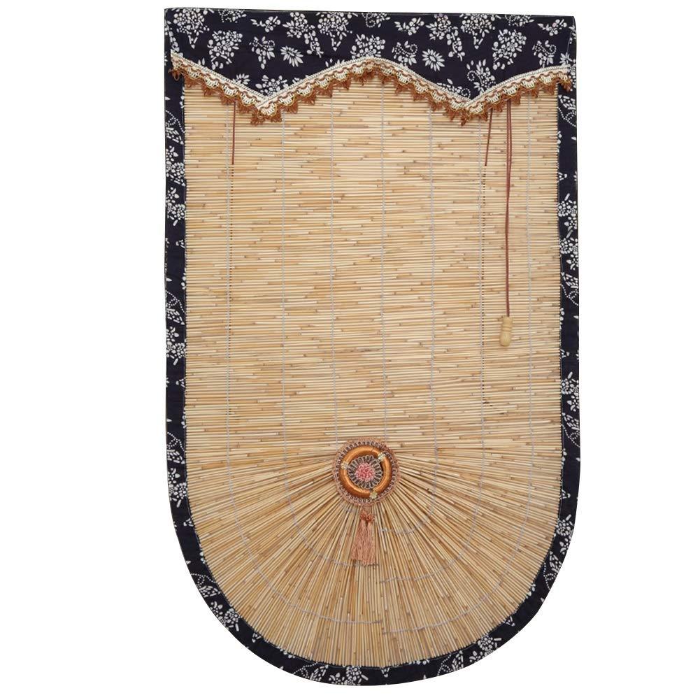ローマの窓の陰 バランス付き、 ローマのカーテン折りたたみ - リードは、装飾を作ります (Wの60150センチメートル、H 120240センチメートル) (サイズ さいず : W 130xH 210cm) W 130xH 210cm  B07R9NQDLR