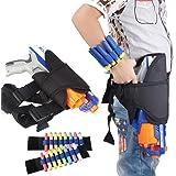 Pawaca Kit - Funda de pistola para cintura y 2 muñequeras de dardos para pistola Nerf N-Strike Elite, para niños