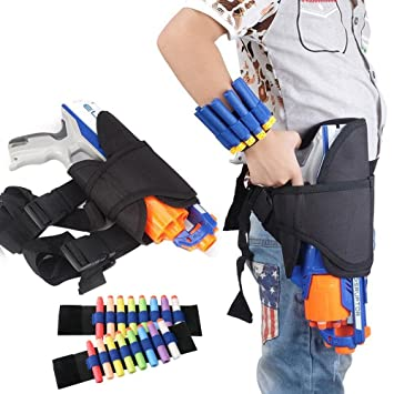 For Nerf Gun Case, Aolvo Kids Waist Bag Nerf Gun Holster with 1 Pair of