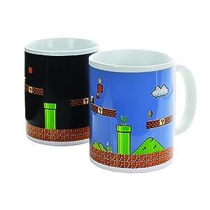 Paladone Super Mario Brothers Heat Changing Ceramic Coffee Mug - Collectors Edition