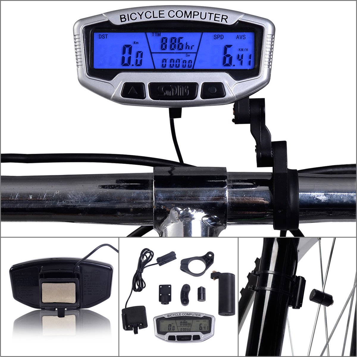 Amazon Bicycle Bike Cycling LCD Computer Odometer Speedometer Velometer With Backlight Sports Outdoors