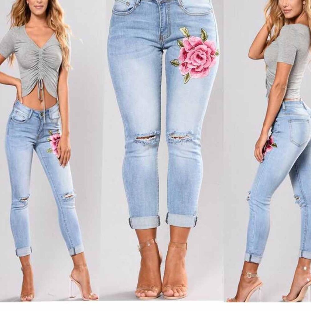 Vaqueros Slim Fit Mujer Talle Alto Flaco Pantalones Largos Lapiz Pantalones Elasticos Stretch Jeans Pantalones Vaqueros Strir Ropa Mujer