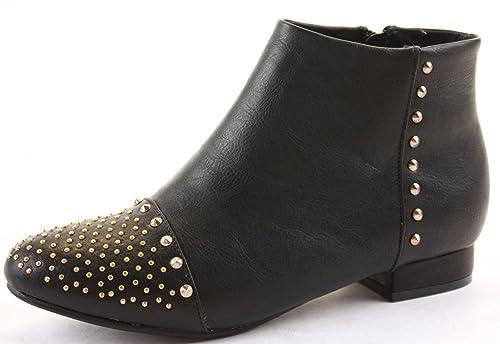 shoeFashionista - Zapatos De Mujer Botas Planas Bajas Botines Tamaño 36 - 41: Amazon.es: Zapatos y complementos