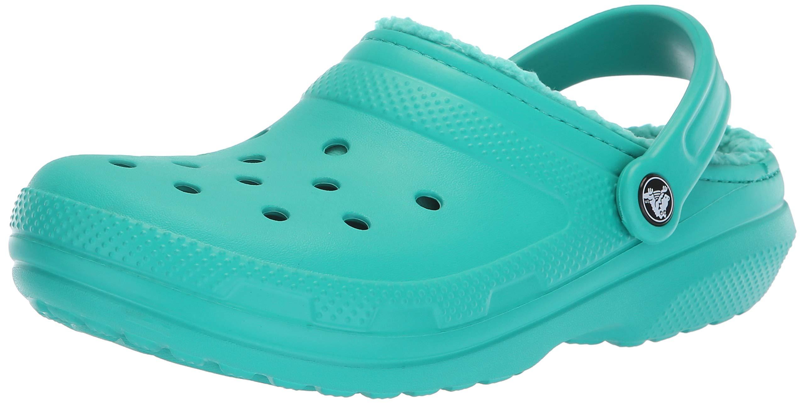 Crocs Classic Lined Clog, tropical teal/tropical teal, 4 US Men / 6 US Women