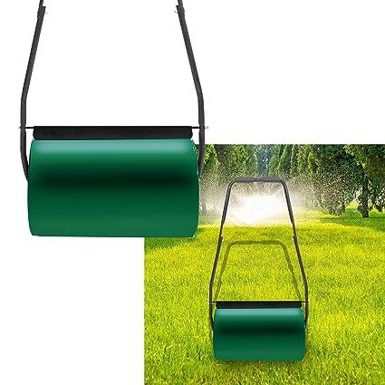 Grün Rasenroller Rasenwalze Handwalze Gartenwalze Rasenlüfter Ackerwalze 57cm