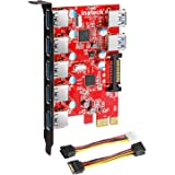 Inateck Superspeed 7 Ports PCI-E to USB 3.0 Expansion Card - 5 USB 3.0 Ports and 2 Rear USB 3.0 Ports Express Card Desktop wi