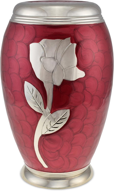 Cherished Urns Rose Rouge /à Motifs pour Adulte Urne fun/éraire pour Cendres