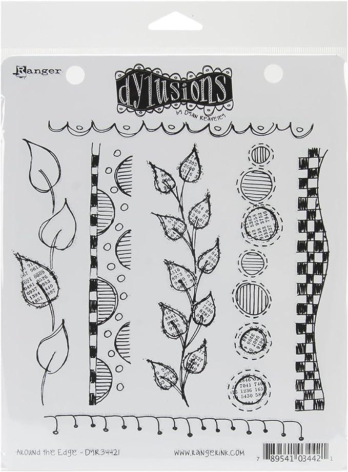 Dylusions Tampons Collants /à Bords en Caoutchouc