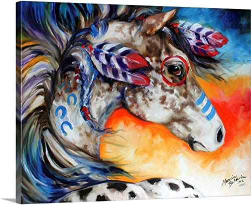 Appaloosa Indian War Horse Canvas Wall Art Print