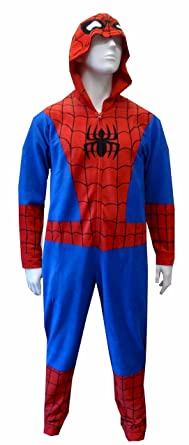 b125cbce96ff Amazon.com  Briefly Stated Spider-Man One-Piece Hooded Pajama Suit ...