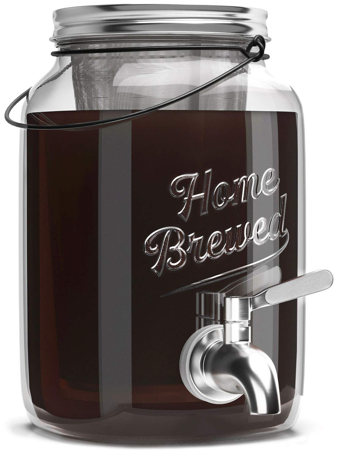 The Original Cold Brew on Tap 2.0-2 Liter Cold Brew Coffee Maker and Dispenser - Brewed Iced Coffee Maker - Glass Cold Brew Maker