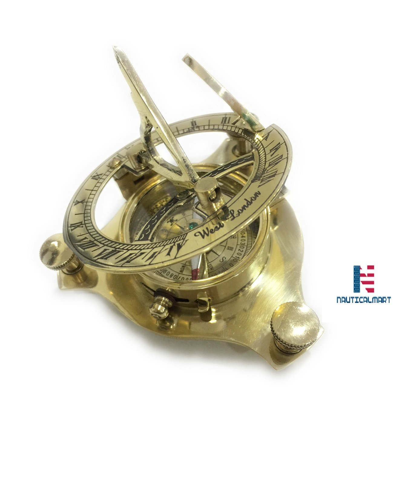 NM031890A Brass Sundial Compass - Case Pack of 16