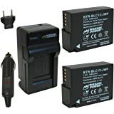 Wasabi Power Battery (2-Pack) and Charger for Leica BP-DC12, BP-DC12-U, 18729 and Leica V-Lux 4, V-Lux (Typ 114)