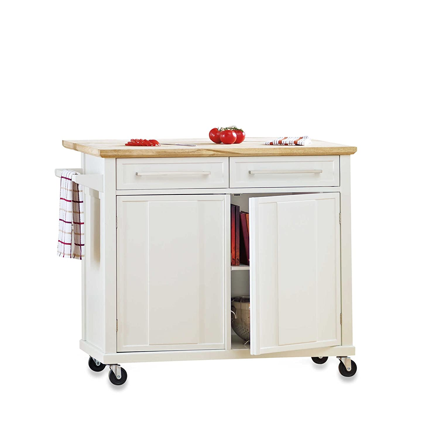 kitchen island with trash bin full size of kitchen islands with amazoncom style and function real simple rolling kitchen island easy and convenient great for small spaces in white kitchen u0026 dining