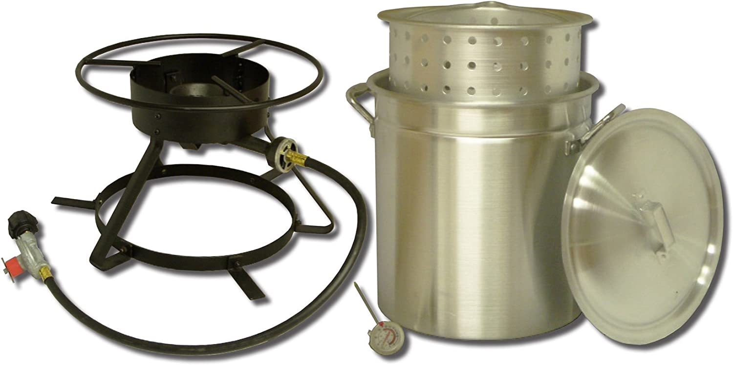 King Kooker 5012 Portable Propane Outdoor Boiling and Steaming Cooker