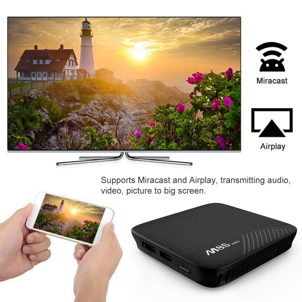 AUHKO M8S PRO Android 7.1 Smart TV Box 3GB DDR4 16GB Amlogic S912 64 bit Octa Core UHD 4K BT 4.1 2.4G/5G WiFi Set-top Box by AUHKO