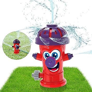 Sunshine smile Juguete de Rociadores,Juguete de Agua de Rociadores,Juegos de Agua para niños Jardin,Jardín de Verano Juguetes para niños Juguetes para rociar Agua (Rojo): Amazon.es: Juguetes y juegos