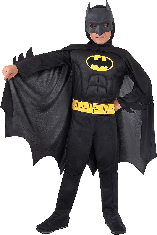 Ciao- Batman Dark Knight Costume Bambino Originale DC Comics (Taglia 3-4 Anni) con muscoli pettorali imbottiti Disfraces, Color (11671.3-4)