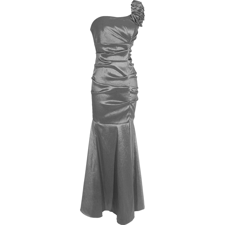 Amazon.com: One-Shoulder Trumpet Taffeta Long Prom Dress Bridesmaid Gown: Clothing