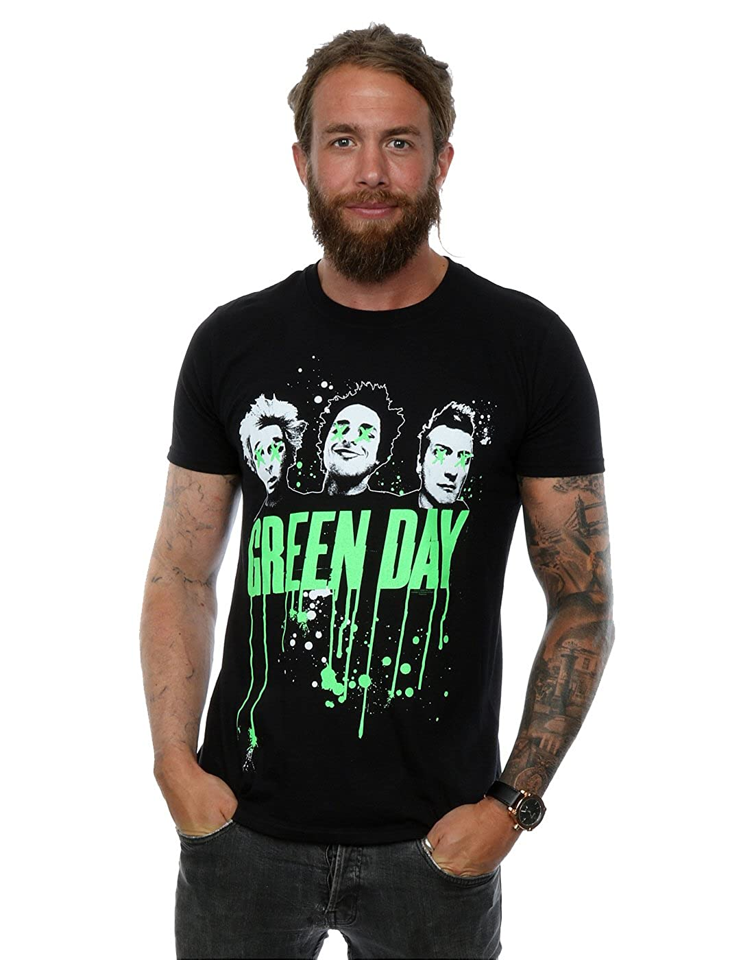 Green Day hombre Band Drip Camiseta Absolute Cult