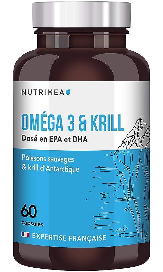 e6e7347fbc6 OMEGA 3 et KRILL d Antarctique Sans Odeur ♢ Huile de poisson pure Premium  EPAX