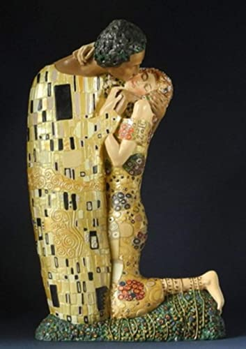 Parastone – Klimt – Resin Statue – Hand Painted – the Kiss 1907 – Small 7.5 x 4.5 x 1.25 Inches