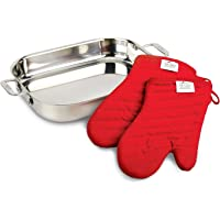 All-Clad 00830 Stainless-Steel Lasagna Pan with Two Oven Mitts (Second Quality)