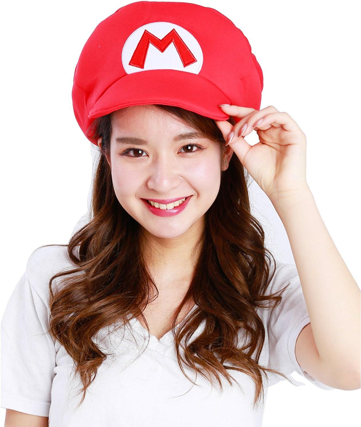 SAZAC Super Mario Bros. Gorra bordada para disfraz de adulto ...