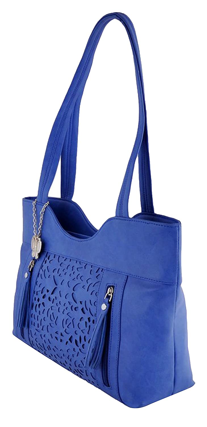 Butterflies Women's Shoulder Bag Casual Blue Clutch and Hand Wallet Combo Pack of 3