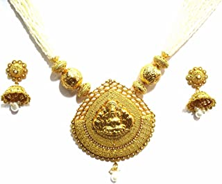 Shingar Jewelry Ksvk Jewels – Collana a catena ciondolo tempio Jewelry Set