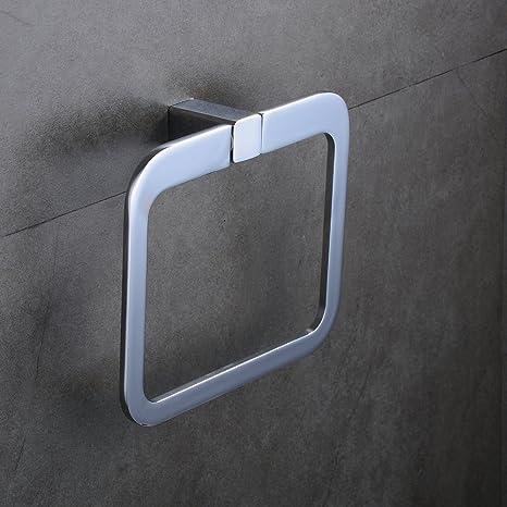 Toalla de baño soporte mano toallero de anilla para colgar toalla percha accesorios de baño Hotel