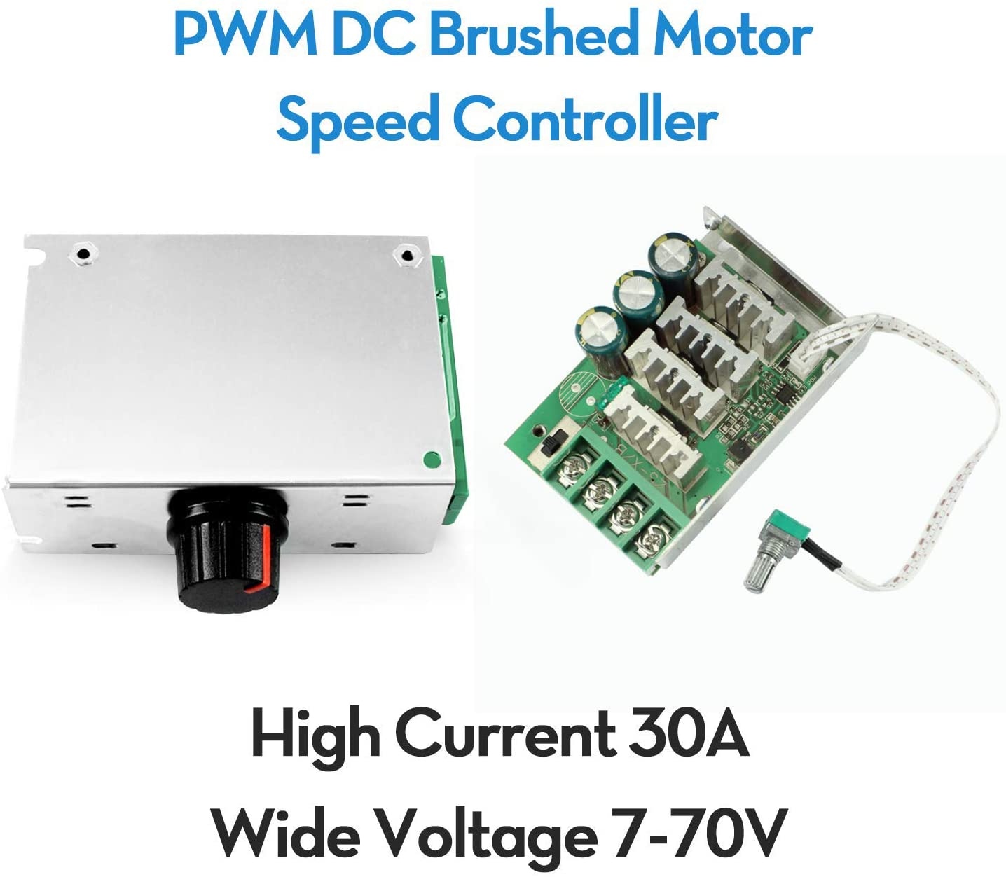 RioRand 7-70V PWM DC Motor Speed Controller Switch 30A - -