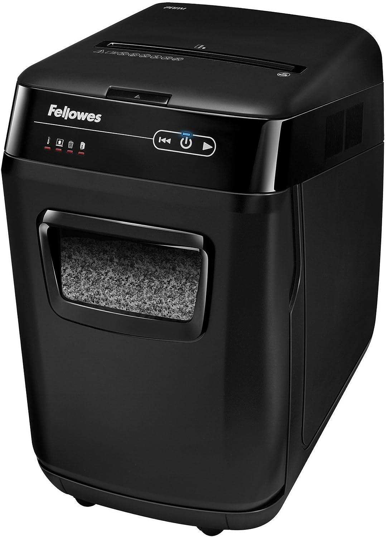 Fellowes 4656201 AutoMax 200M Auto Feed Shredder – 200 Sheet Capacity – Black (4656201)