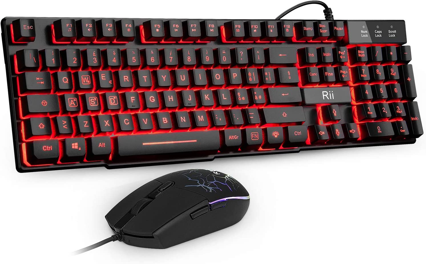 Rii Gaming RK101 (Layout Italiano): Amazon.es: Electrónica