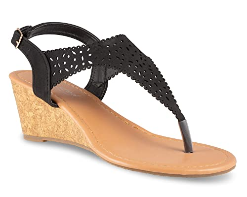 5f6ae73f16 Amazon.com   Twisted Women's Riley Z1 Low Wedge Sandal   Shoes