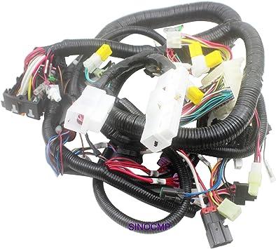 Amazon.com: 0001044 Inner Wiring Harness - SINOCMP Internal Wiring Harness  for Hitachi EX100-2 Excavator Parts, 3 Month Warranty (0001044): Automotive | Hydraulic Powered Car Wiring Harness |  | Amazon.com