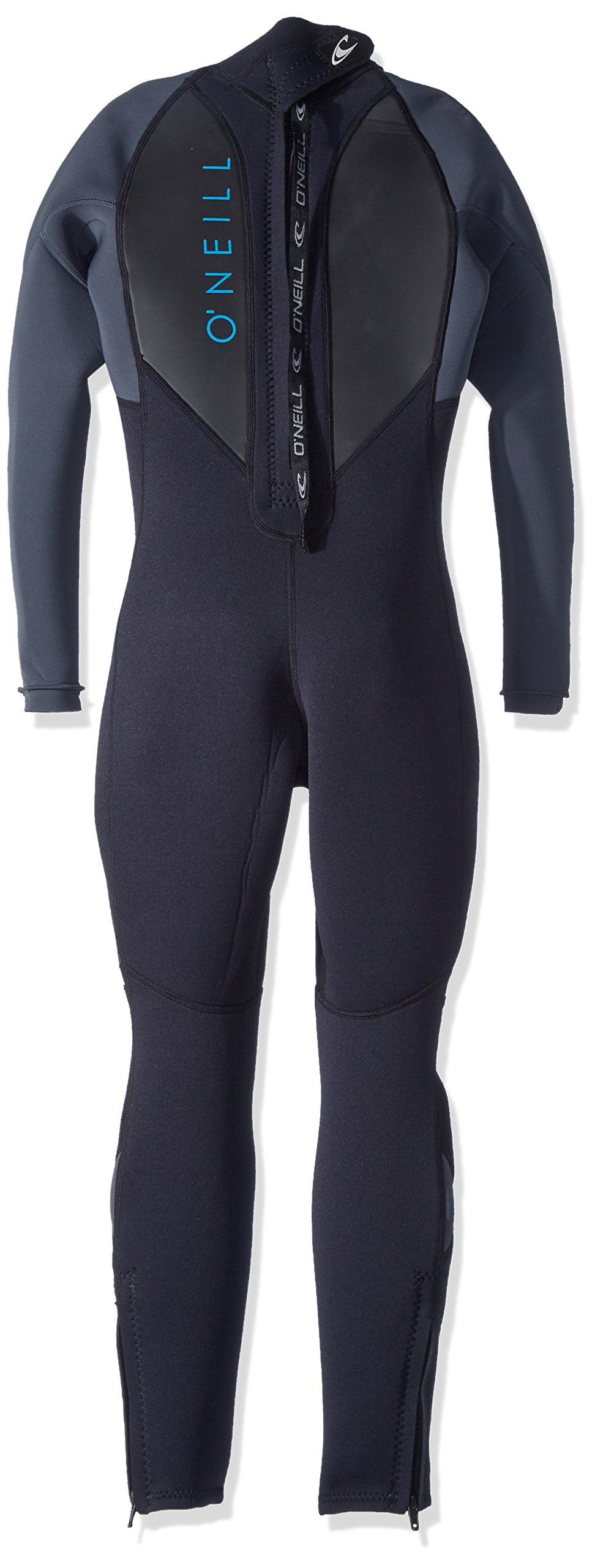 O'Neill Youth Reactor-2 3/2mm Back Zip Full Wetsuit, Black/Graphite, 6 by O'Neill Wetsuits (Image #2)