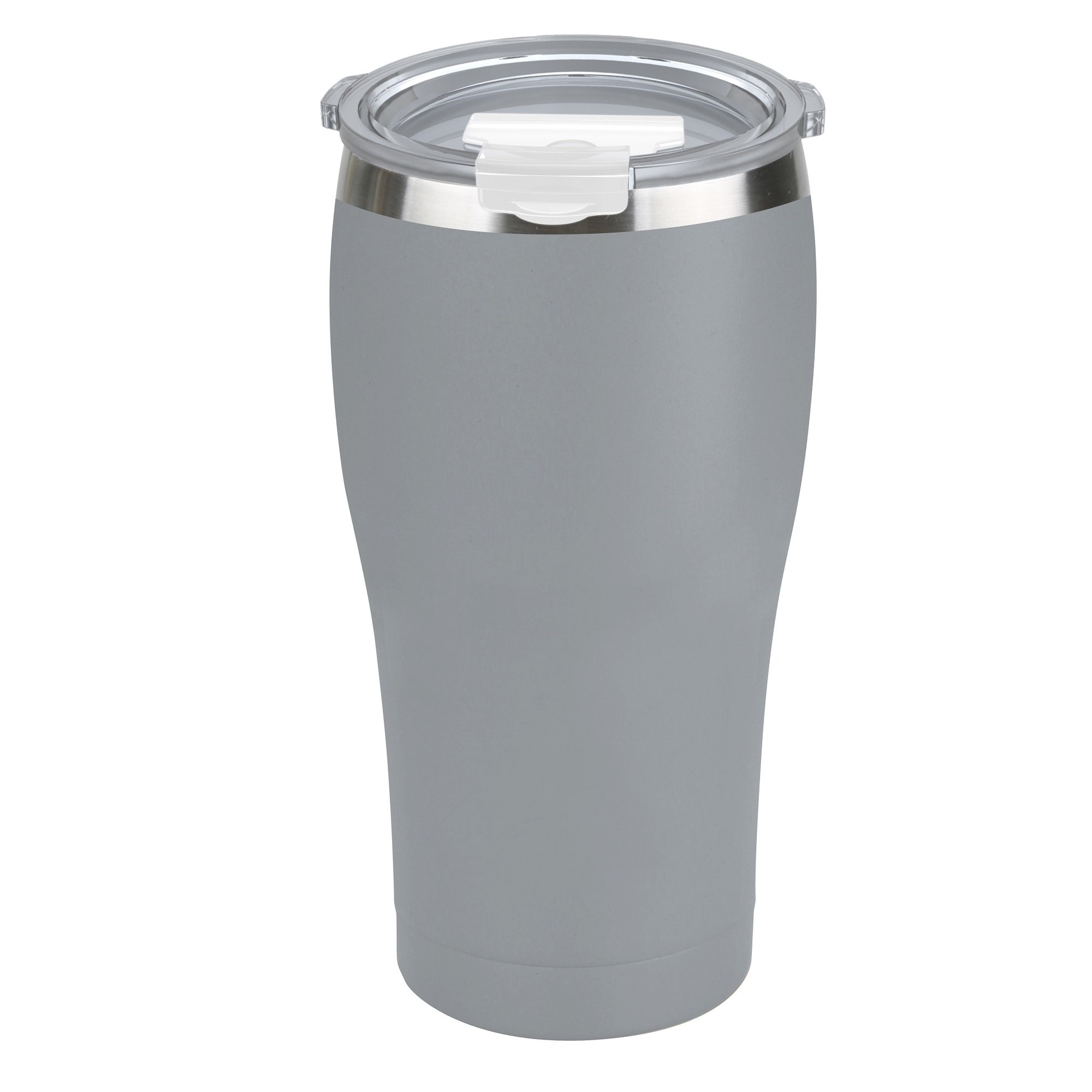 Tahoe Trails Stainless Steel Tumbler Vacuum Insulated Double Wall Travel Cup Lid (gray, 30oz)