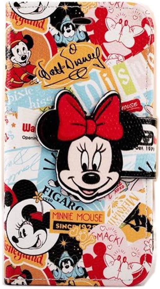 Cute 3d Minnie Mouse pour iPhone 6S, iPhone 6 Mickey Mouse Housse Etui Coque Portefeuille, Modefan Folio en cuir avec support [Portefeuille] Coque ...