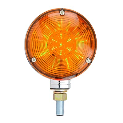 GG Grand General 77610 4 inches Double Faced Star 48 LED Sealed Pedestal Light with Amber Lens: Automotive
