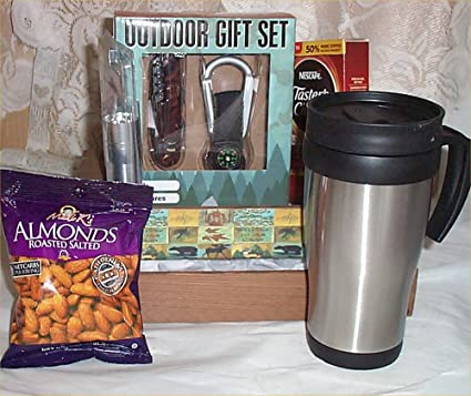 e3ddee3e269 Amazon.com   Outdoor Gift Set Hunter Mug Wood Crate Gifts Basket Coffee  Nuts Holidays Bear  2   Everything Else