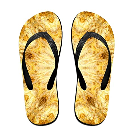 Unisex Kaleidoscope With Bright Stone Pattern Summer Beach Herringbone Shoes Sandals Slipper Indoor & Outdoor Flip-flops