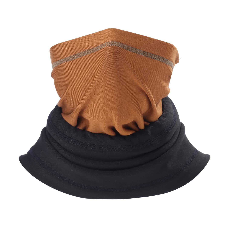 Qinglonglin Neck Warmer - Polar Fleece Adjustable Neck Gaiter Windproof Ski Mask for Men & Women - Cold Weather Face Mask Tactical Balaclava Hood - Keep Warm .LTD QL-G025-AA-01