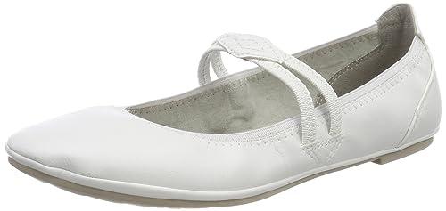 24224, Mary Jane Para Mujer, Blanco (White 100), 36 EU Marco Tozzi