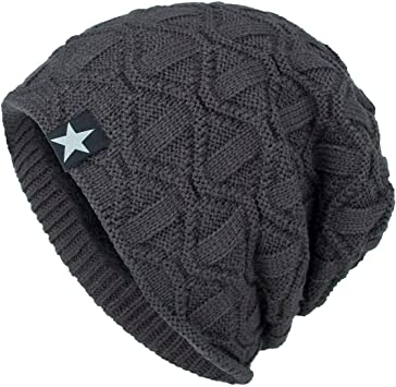 MENS WINTER RIBBED KNITTED BEANIE SKULL CAP HAT OUTDOOR WORK WARM SNOW COLD SKI
