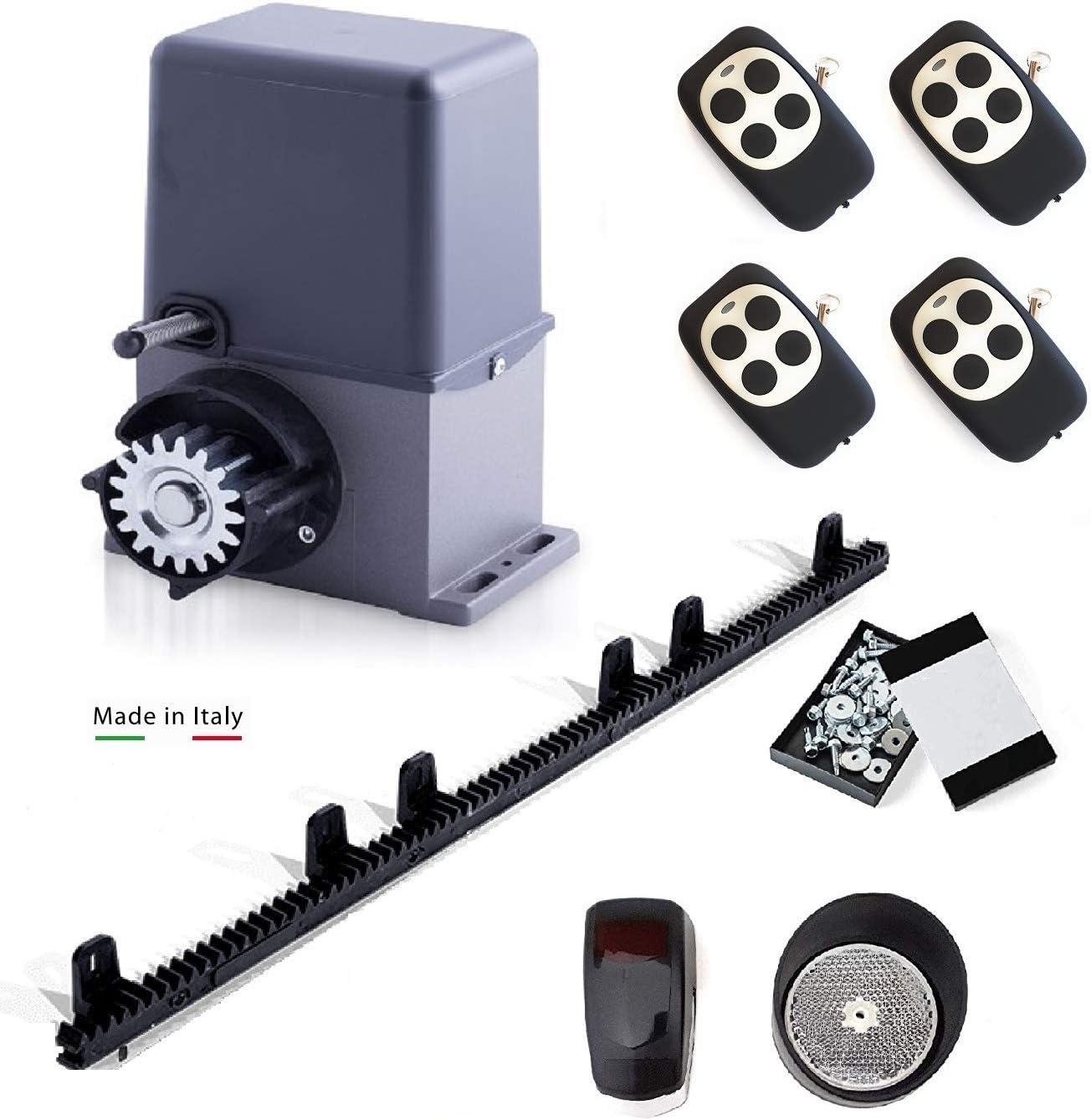 Kit completo profesional Motor puerta corredera ARTEMIS para puertas de hasta 600kg + 4 mandos a distancia + fotocélula espejo + cremallera de Nylon con tornillos. 100% fabricado en Italia.: Amazon.es: Bricolaje y herramientas