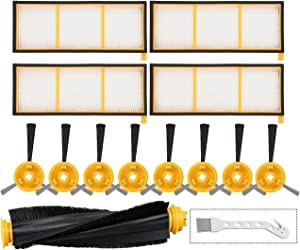 Mochenli Replacement Accessories Kit for Shark ION Robot RV700 RV720 RV750 RV750C RV755 Robotic Vacuum Cleaner,4 Filters,8 Side Brushes,1 Main Brush.(Not Fit RV700_N, RV720_N, RV750_N)