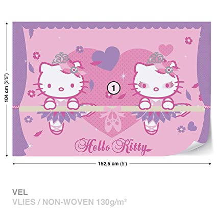 Hello Kitty Wall Mural Photo Wallpaper Room Decor 450ws Amazon Com