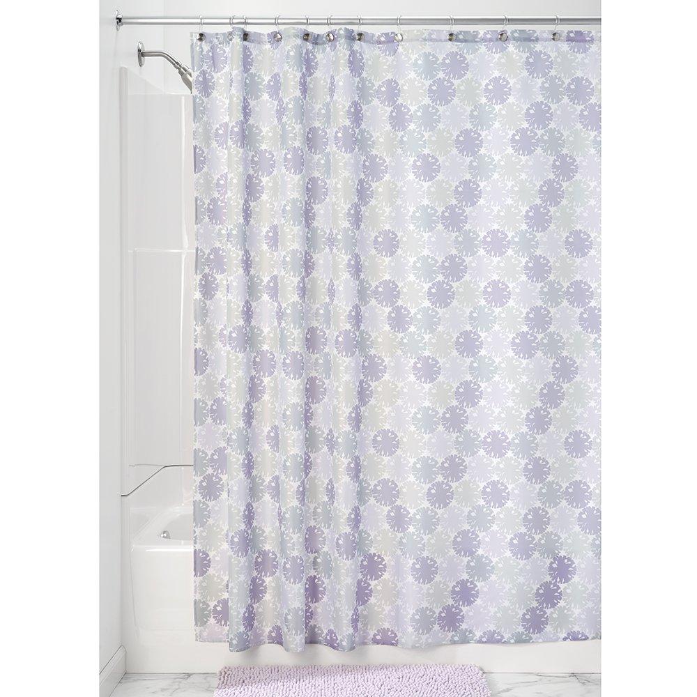 InterDesign Vivo Botanical Fabric Shower Curtain - 72 x 72, Brown/Tan 36221