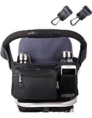 Eono Essentials-Kinderwagen-Aufbewahrungstasche mit extra großem Stauraum für iPhones, iPads, Brieftaschen, Windeln und Spielzeug